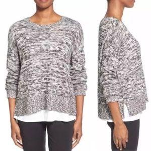 Eileen Fisher Organic Cotton & Alpaca Sweater XL